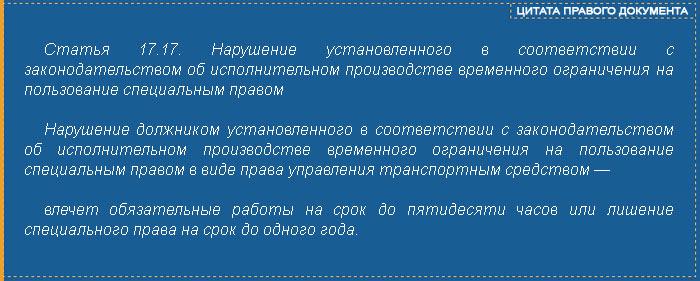 Статья 17.17 КОаП РФ