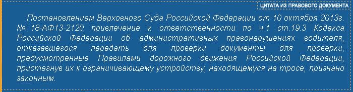 часть 1 ст. 19.3 Кодекса РФ об административных нарушениях