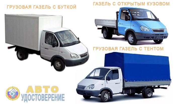 Модели грузовой Газели
