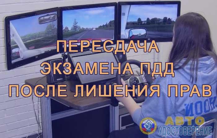 Экзамен пдд для лишенных водительских прав