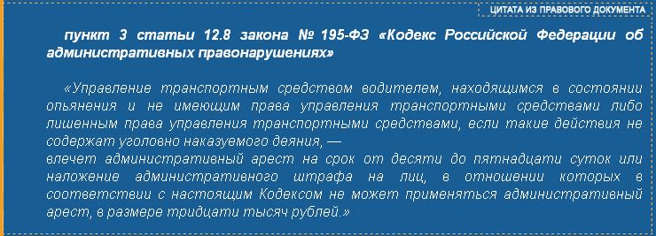 ст.12.8 п.3 КоАП РФ