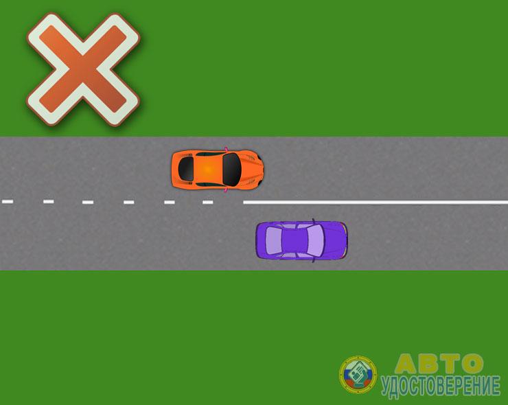 Запрещающая дорожная разметка